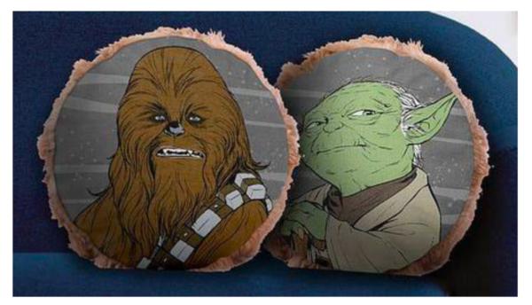 Star Wars Chewy & Yoda Cushion